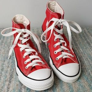 RED Converse Hightops!